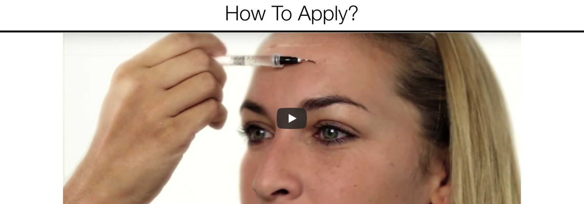 How to apply - Fillerina