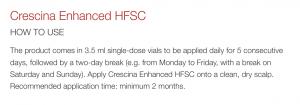 Crescina Enhance HFSC